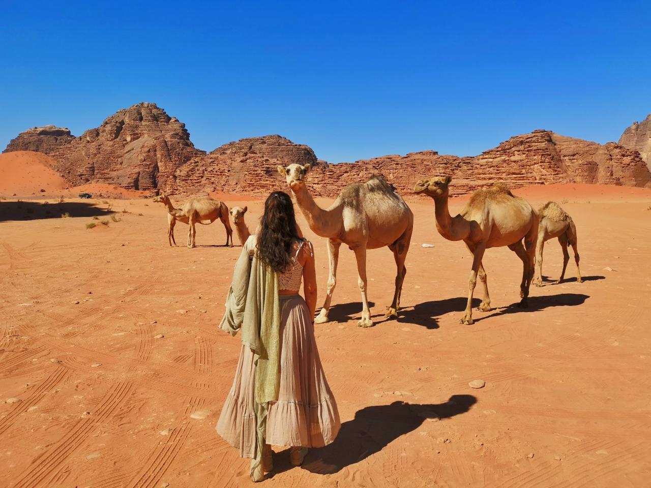 Fata camile desert