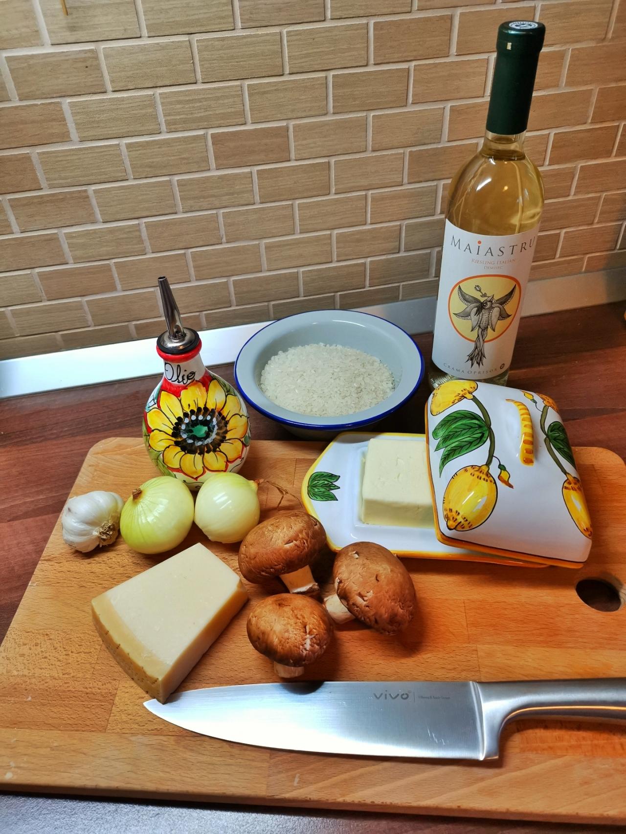 ingrediente orez cu ciuperci