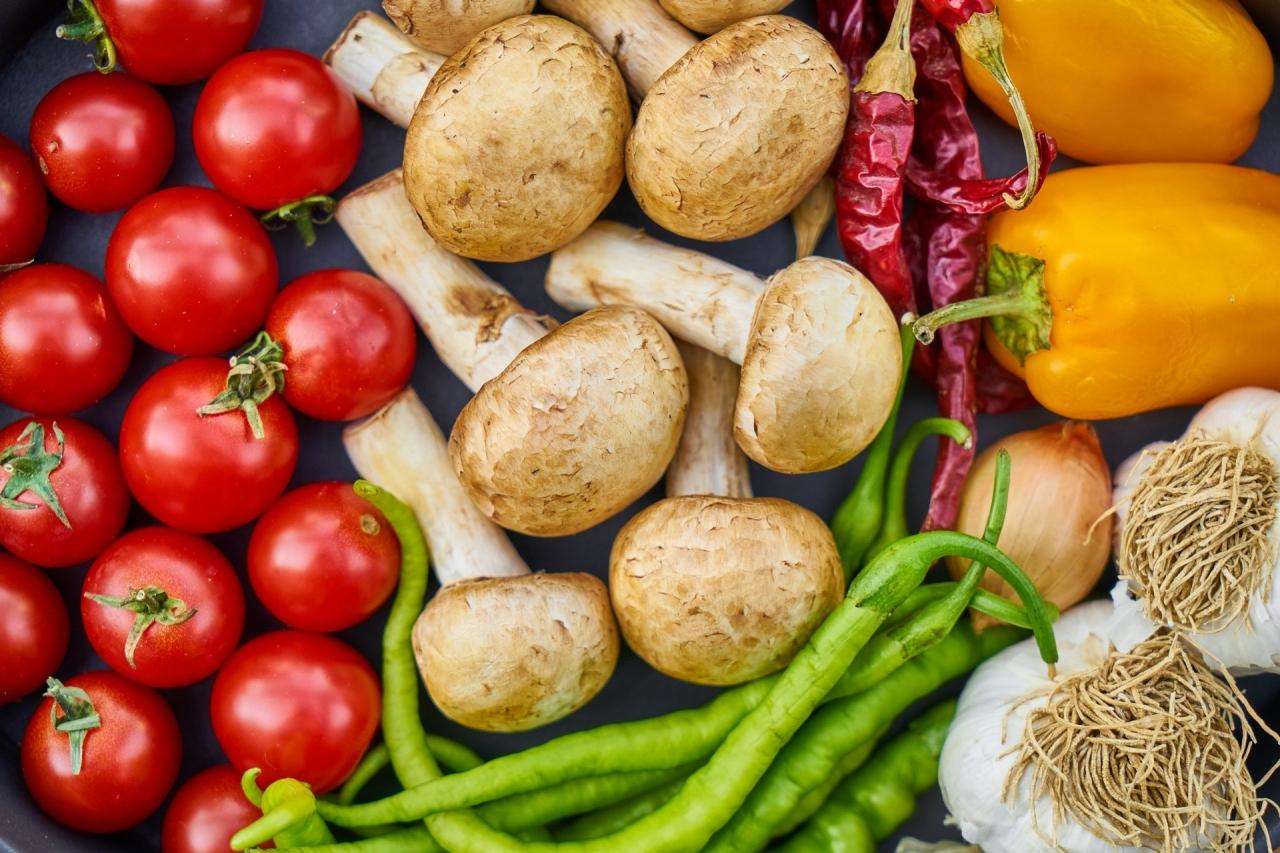 legume si ciuperci champignon