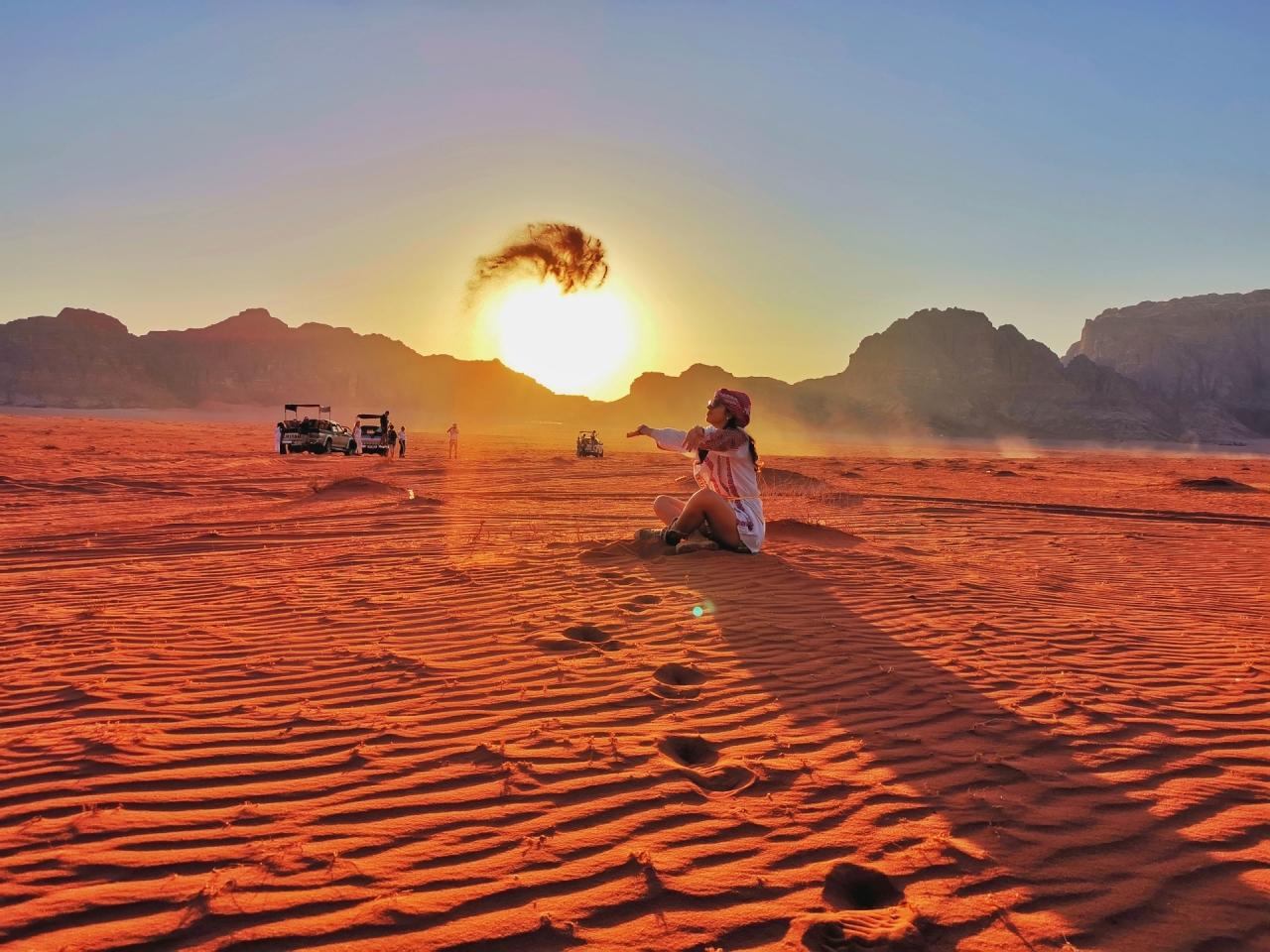Apus in desert Wadi Rum Iordania