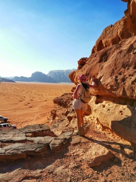 Pe stanci Wadi Rum Jordan