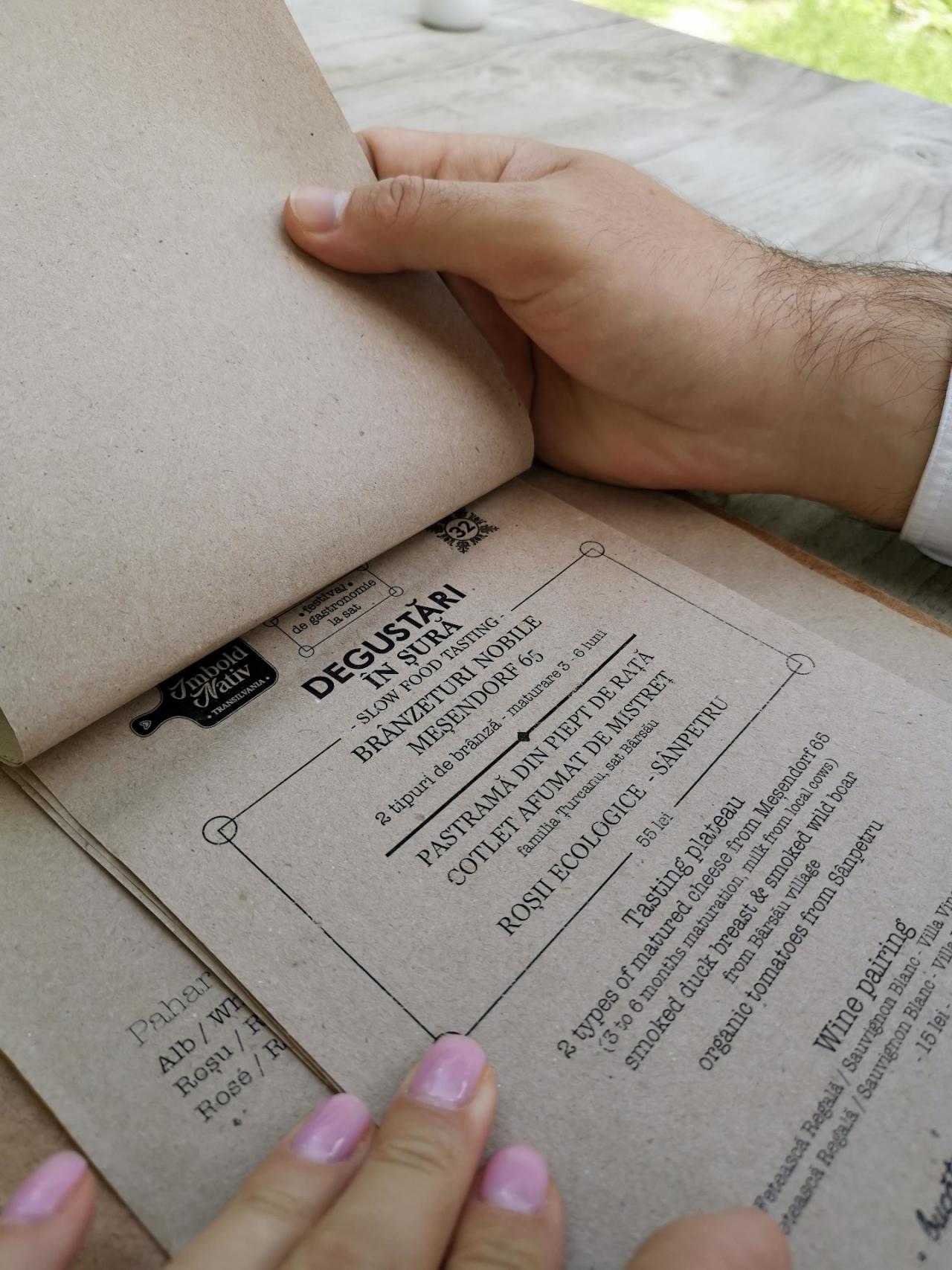 Restaurant Viscri Meniu