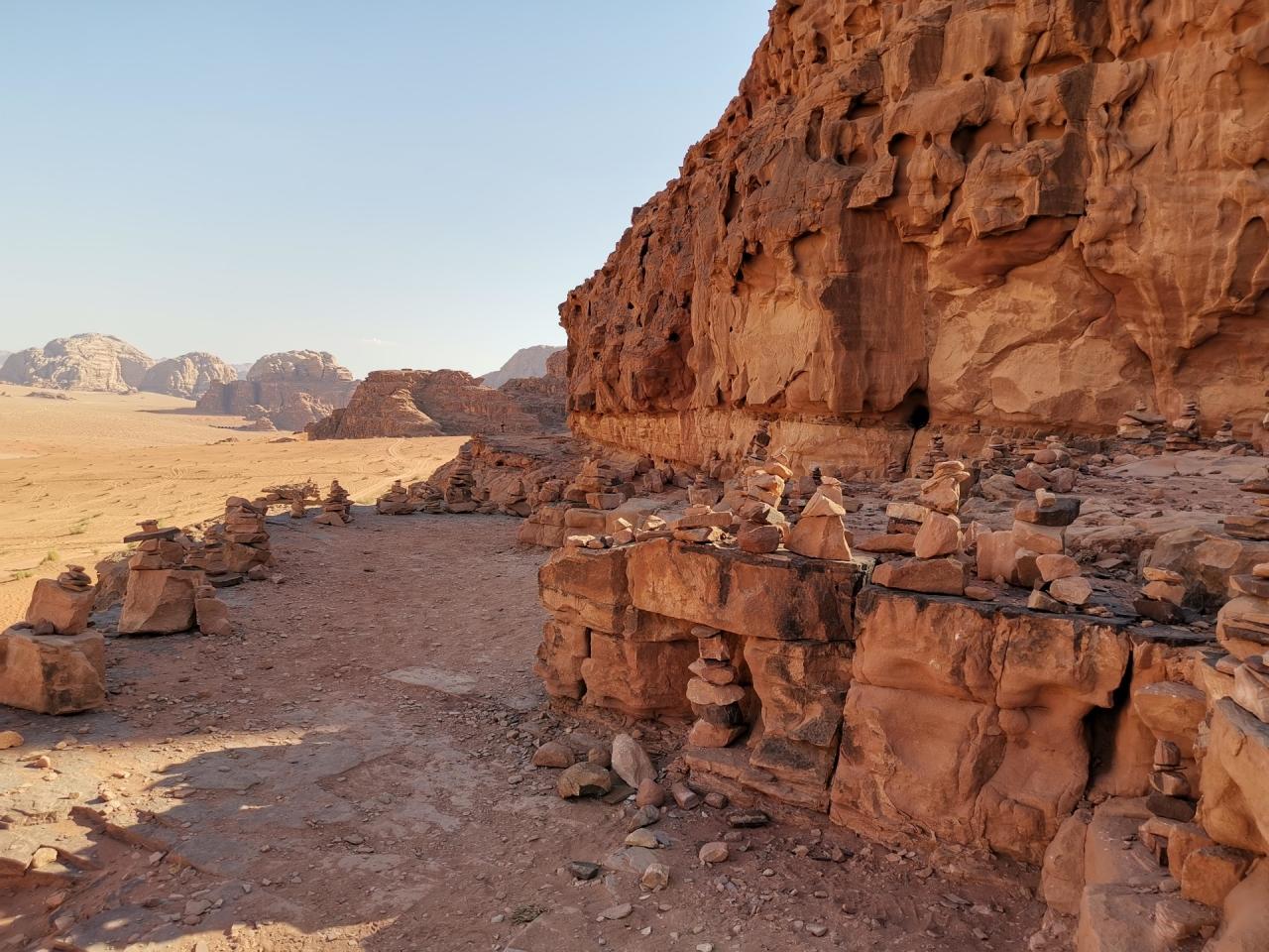 Pietre desert Wadi Rum Jordan